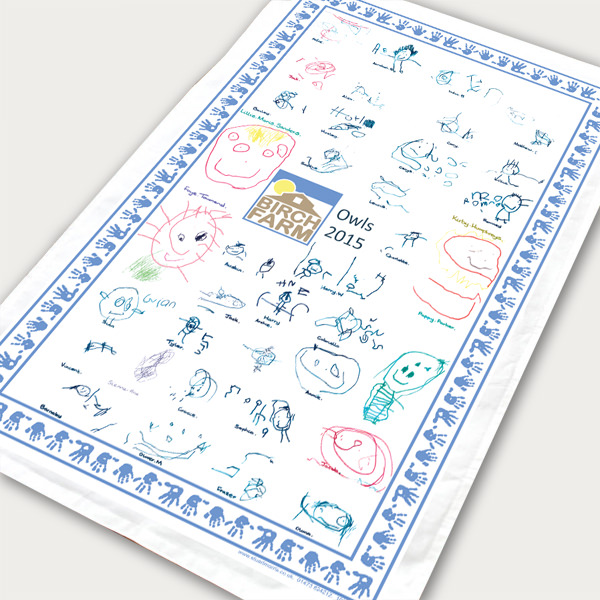 Example nursery school tea towel