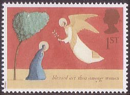 1st Class stamp from Laura's winning Christmas (1996) collection for Royal Mail.