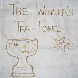 Why not try making your own Winner's Tea Towel