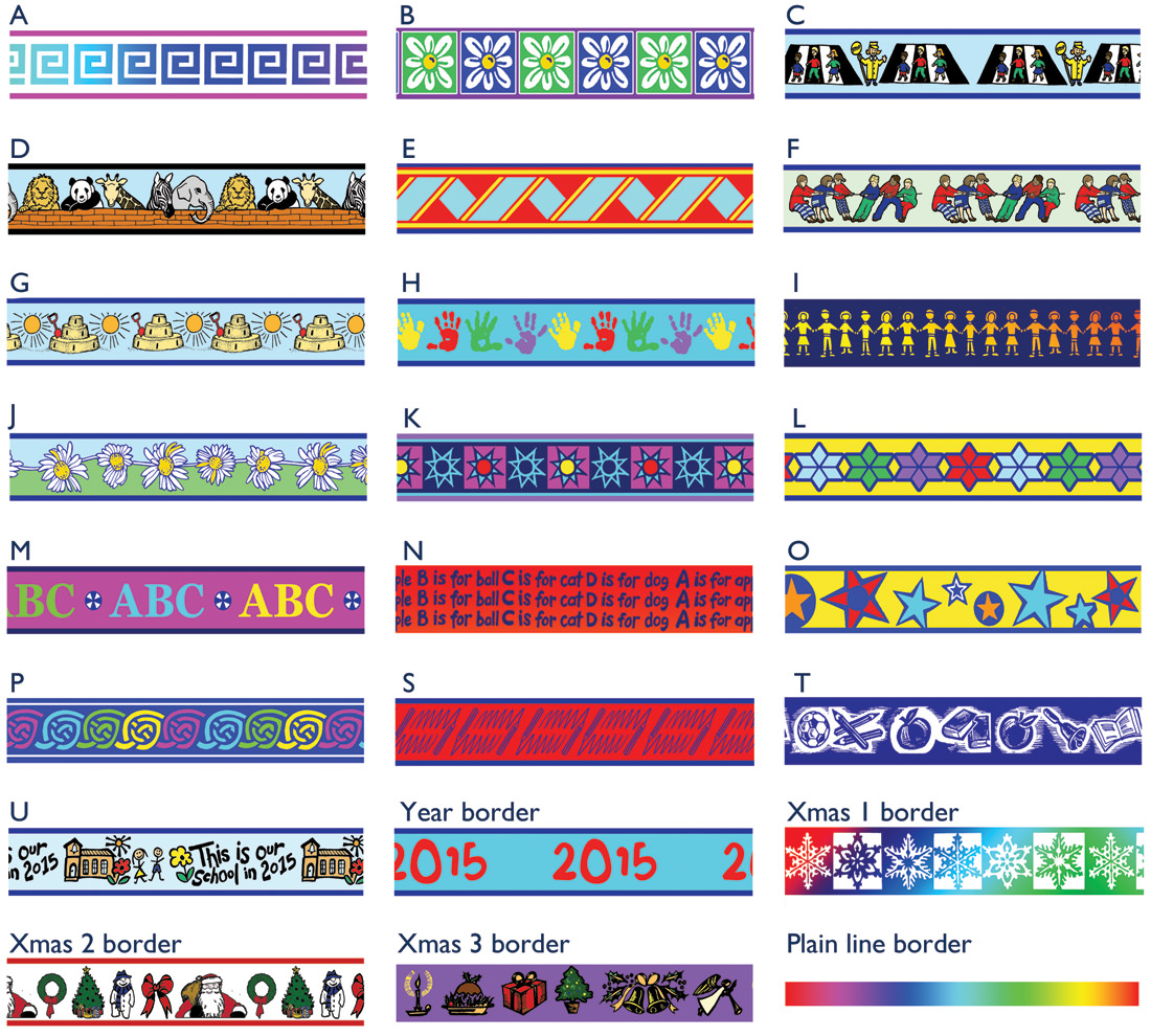 Fun school decorative borders