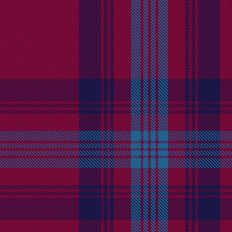 Bennet tartan - Blue Bell, Navy Peony & a muted version of Red Scarlet.