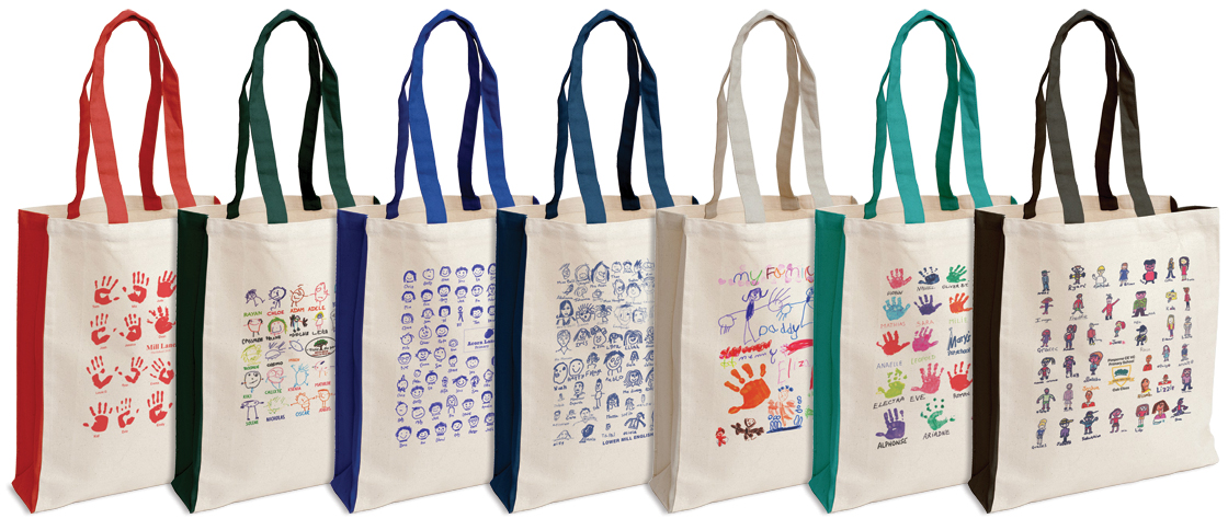 Canvas Shopping Bags available in 7 different Colours