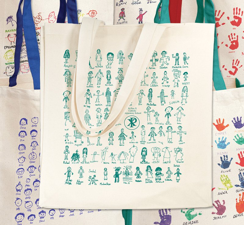 Stuart Morris School Fundraising Canvas Shopping Bags