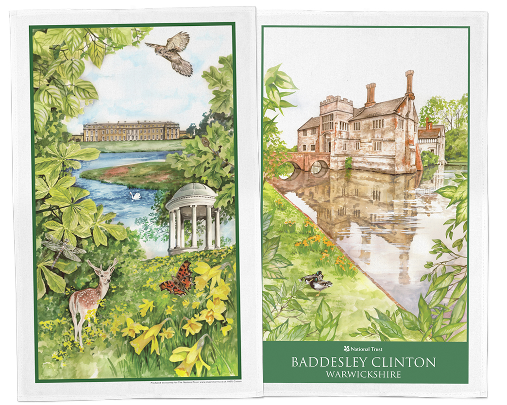 Petworth Baddesley Clinton National Trust Tea Towel