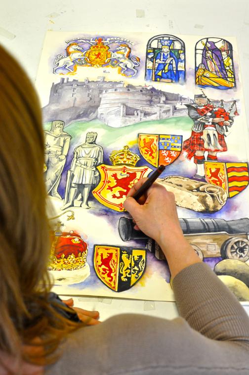 Diz drawing Knights Abbeys