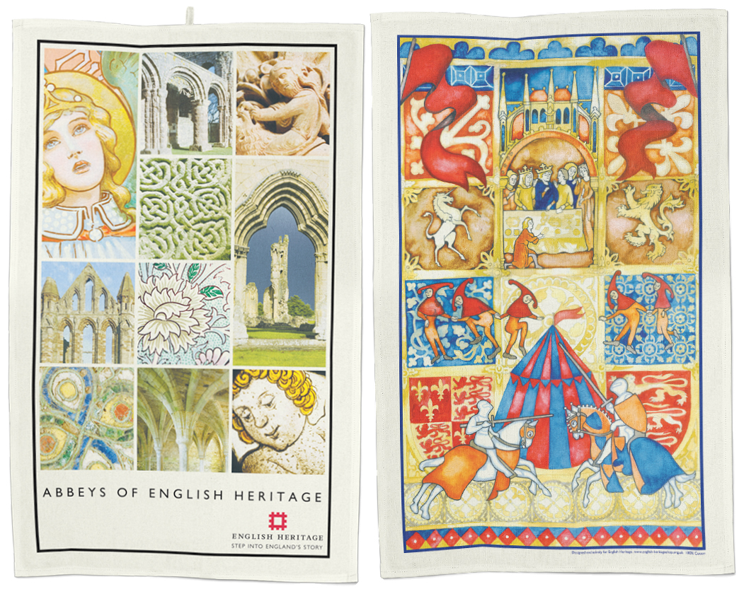 Abbeys Knights Tea Towels By Stuart Morris
