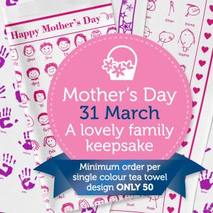 Fundraising Tea Towels For Mothers Day 2019
