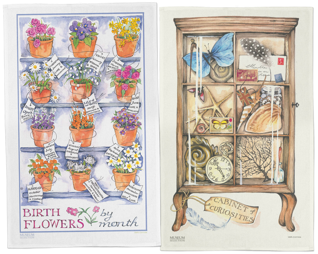 Museum Collection Tea Towels Months