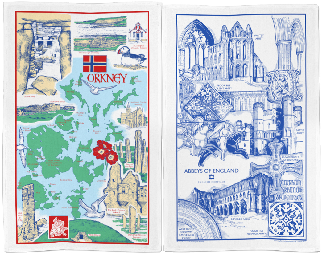 Orkney Abbeys Tea Towels By Stuart Morris