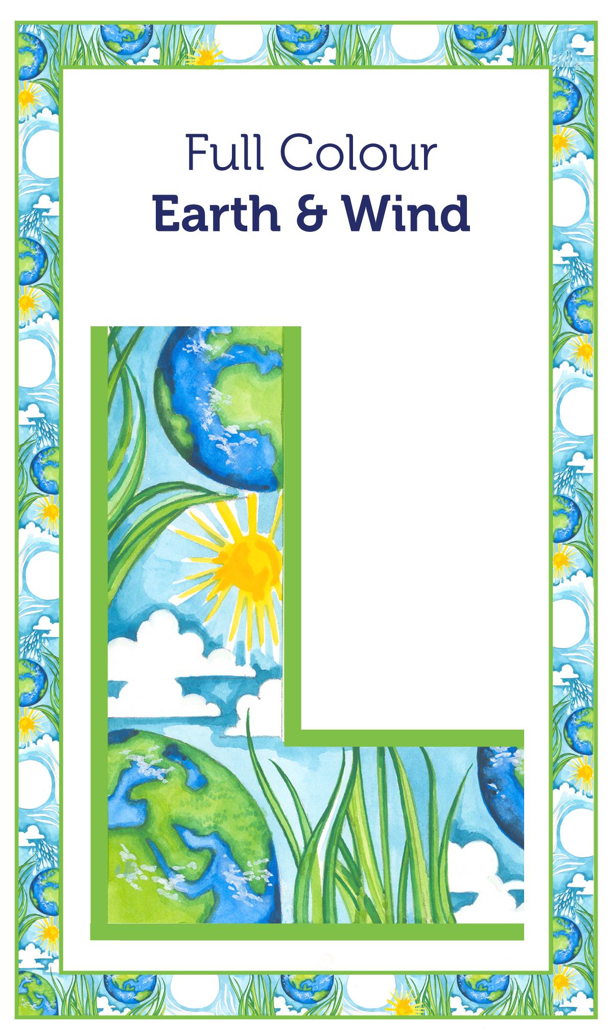 Tea Towel Borders 15 Earth & Wind