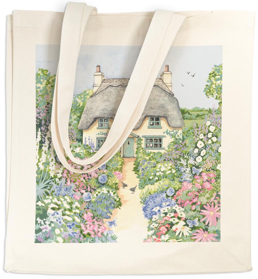 Canvas Bag Long Handle Cottage