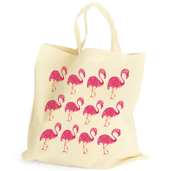 Stuart Morris Cotton Bag Flamingo Pink