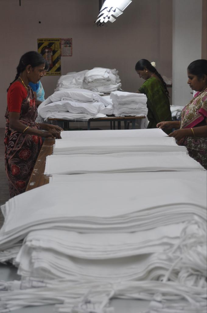 Our cloth being packed ready to be shipped to us
